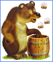 Бджоли і ведмідь (українська народна казка)