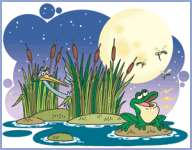 Чапля та жабка (українська народна казка)