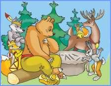 Чому ведмідь клишоногий (американська казка)