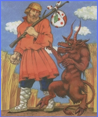 Чорт-змій і запродані діти (українська народна казка)