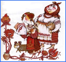 Дідова дочка й бабина дочка (українська народна казка)