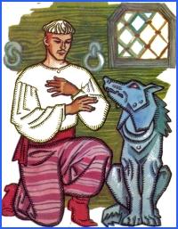 Казка про королевича та залізного вовка (українська народна казка)