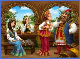 Казка про срібне блюдечко і наливне яблучко (російська казка)