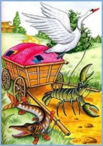 The Swan, the Pike and the Crayfish (ukrainian folk tale)