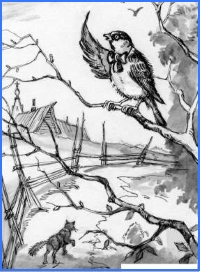 Лисичка та горобець (словацька казка)