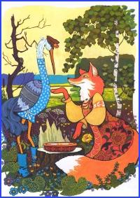 Лисиця та лелека (болгарська казка)