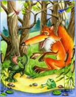 The fox and the crayfish (ukrainian folk tale)