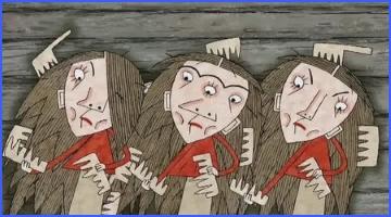 Одноочка, Двоочка й Триочка (Брати Ґрімм)