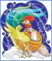 Півник і курочка (албанська казка)