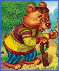 Ведмідь і колодка (українська народна казка)