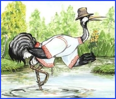 The Heron, the Fish and the Crayfish (ukrainian folk tale)