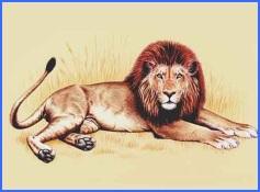 Як лев утонув у колодязі (українська народна казка)