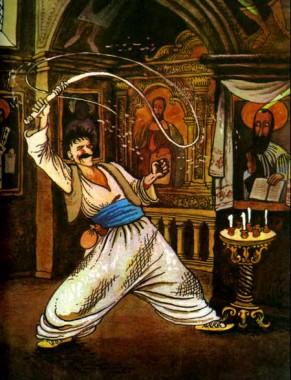 Як святі сметану їли (українська народна казка)