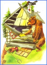 Як ведмідь лисиці хату лагодив (українська народна казка)