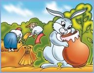 Зайчик і глечик молока (українська народна казка)